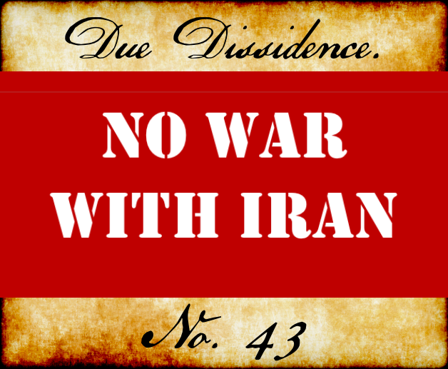 Podcast: No War With Iran.Period.